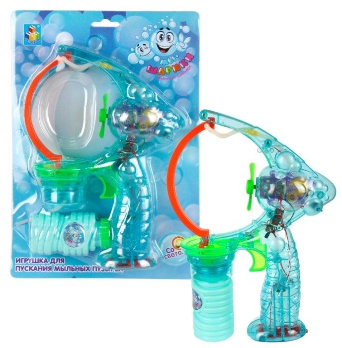 Пистолет для пускания мыльных пузырей 1 TOY Мылемёт, 70 мл Т59661