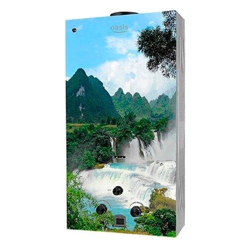 Проточный газовый водонагреватель Oasis Glass 20VG, водопад накопительный водонагреватель oasis oasis 10 kn