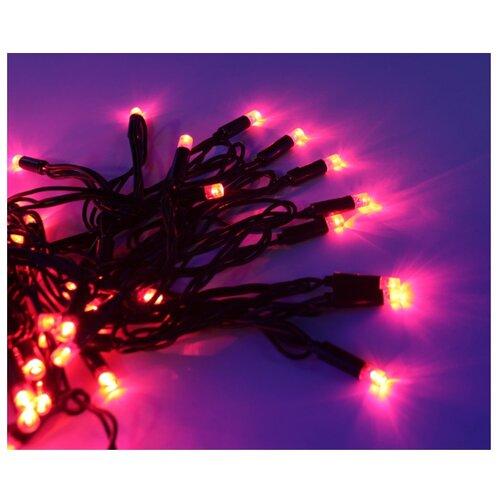 Гирлянда Hi Lights Deco морозостойкая 1200 см, RB-LD120, 120 ламп, красные диоды/черный провод