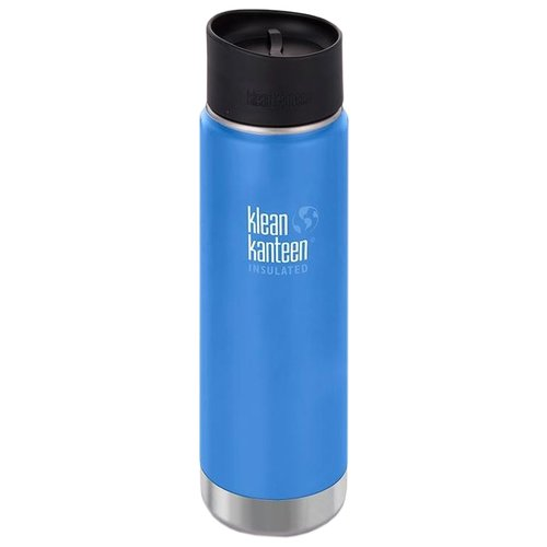 Термос-фляга Klean Kanteen Insulated Wide Cafe Cap (0,592 л) pacific skyТермосы и термокружки<br>