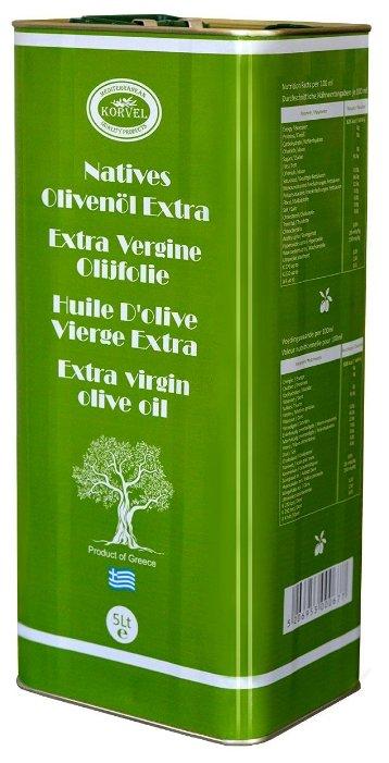 Korvel Масло оливковое Экстра Вирджин, жестяная банка