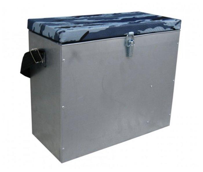 Ящик для рыбалки HELIOS зимний оцинкованный (23л) 39х18х33.5см