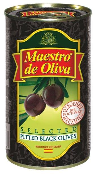 Maestro De Oliva Отборные маслины в рассоле без косточки, жестяная банка 360 г
