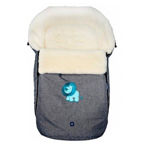 Купить Конверт-мешок Womar S77 Exlusive Lion melange fabric в коляску 95 см серый, Конверты и спальные мешки