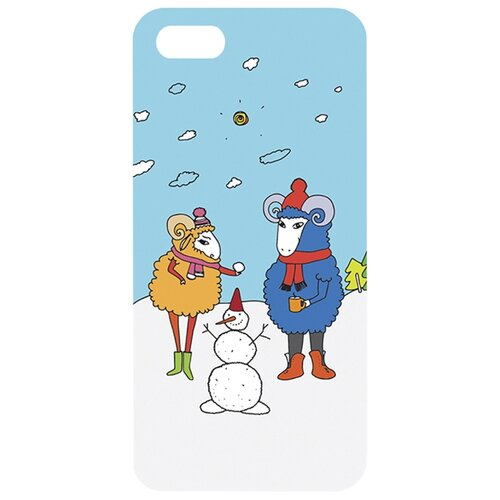 Чехол Mitya Veselkov IP5.МITYA-198 для Apple iPhone 5/iPhone 5S/iPhone SE Семья овечекЧехлы<br>