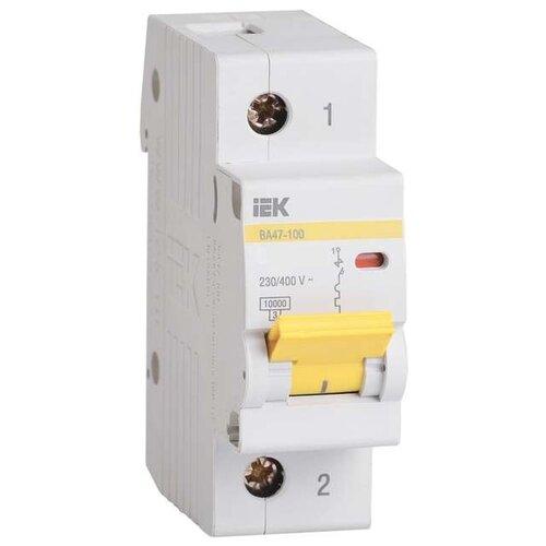 Автоматический выключатель IEK ВА 47-100 1Р (C) 10kA 100 А iek mva20 1 010 b авт выкл ва47 29 1р 10а 4 5ка х ка в иэк