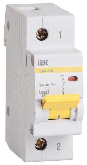Автоматический выключатель IEK ВА 47-100 1Р (C) 10kA