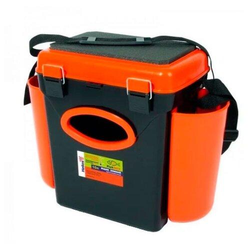 Ящик для рыбалки HELIOS FishBox односекционный (10л) 31х23х34.5см оранжевый/черный