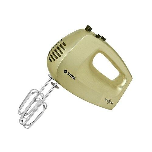 Миксер VITEK VT-1422 CH, золотистый миксер vitek vt 1422 ch ручной бежевый [1422 vt 01]