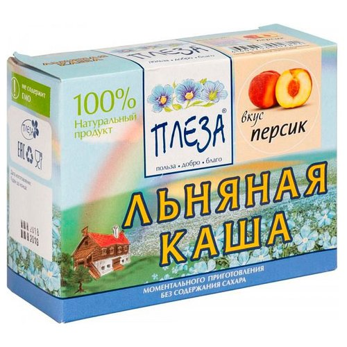 Фото - ПЛЕЗА Каша льняная вкус Персик (коробка), 200 г беби ситтер каша ячменная с 4 месяцев 200 г