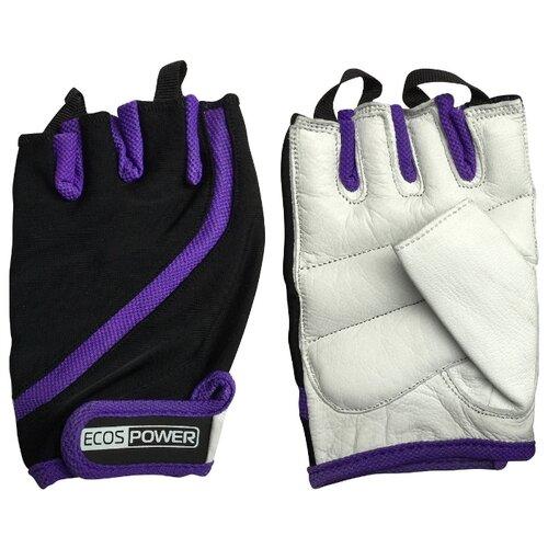 Перчатки ECOS Power 2311 фиолетовый/черный/белый XL фото