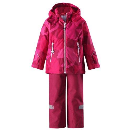 Купить Комплект с полукомбинезоном Reima размер 92, розовый, Комплекты верхней одежды