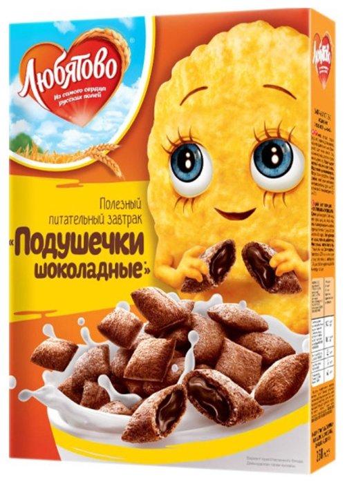 Готовый завтрак Любятово Подушечки шоколадные, коробка