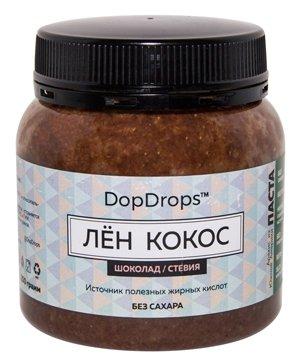 DopDrops Паста ореховая Лен Кокос (шоколад, стевия) пластик