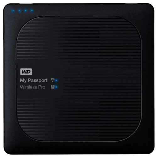 Фото - Внешний HDD Western Digital My Passport Wireless Pro 1 ТБ черный western digital wdblhr0020bbl eeue my passport 2 5 синий