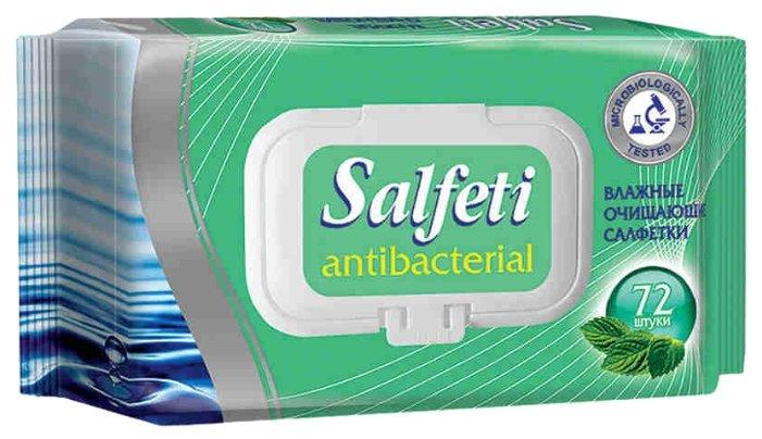 Влажные салфетки Salfeti антибактериальные 72 шт.
