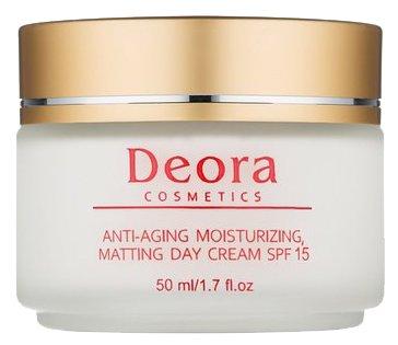 Крем Deora Cosmetics Dead Sea Minerals moisturizing matting SPF 15 дневной 50 мл
