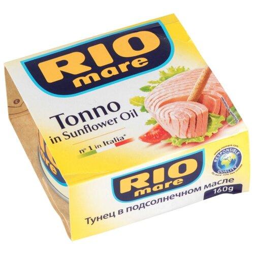 Rio Mare Тунец в подсолнечном масле, 160 гКонсервы из рыбы и морепродуктов<br>