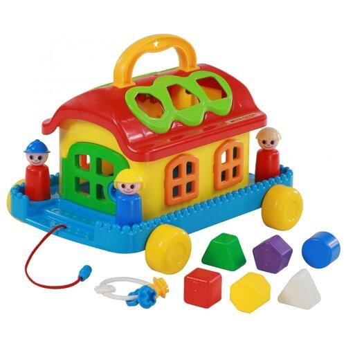 Каталка-игрушка Полесье Сказочный домик на колесиках (48769) красный/желтый/синий каталка игрушка полесье биосфера котёнок 54456