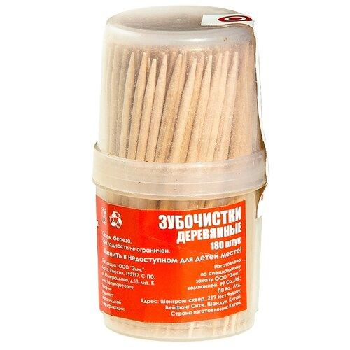 HomeQueen зубочистки деревянные, 6,5 см, 180 шт.