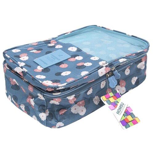 HOMSU Органайзер для обуви Синий Цветок синий homsu органайзер homsu для обуви 5 отделений 100 32 11 см maestro