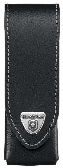 Чехол для складных ножей Victorinox 4.0524.3, рукоять 111 мм 4-6 уровней, натуральная кожа, цвет черный, крепление на пояс, Victorinox (Викторинокс)
