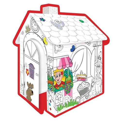 Фото - Mochtoys Раскраска картонный домик (10721) mochtoys раскраска картонный домик 10721