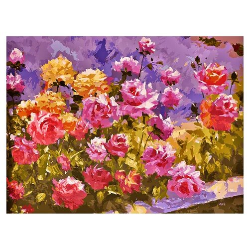 Купить Белоснежка Картина по номерам Букет роз 30х40 см (110-AS), Картины по номерам и контурам