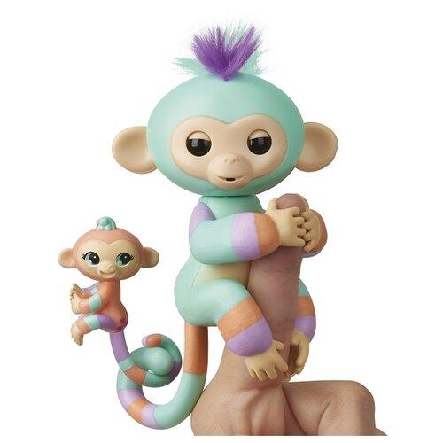 Купить Интерактивная игрушка робот WowWee Fingerlings Ручная обезьянка с малышом Денни с малышом, Роботы и трансформеры