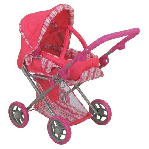 Коляска-трансформер Buggy Boom Infinia (8450) розовый/полоска buggy boom коляска для кукол buggy boom infinia трасформер розовая