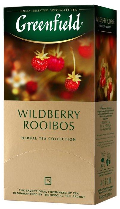 Чайный напиток травяной Greenfield Wildberry Rooibos в пакетиках, 25 шт.