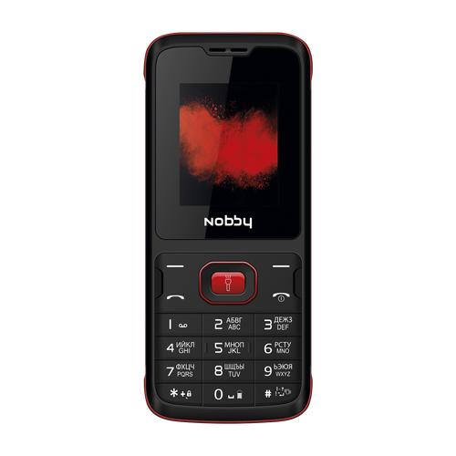 Телефон Nobby 110 черный / красный