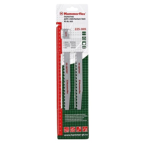 Фото - Пильное полотно для сабельной пилы Hammerflex S1617K (225-005) 2 шт. полотно для пилы bahco 3906 300 18 2p 2 шт