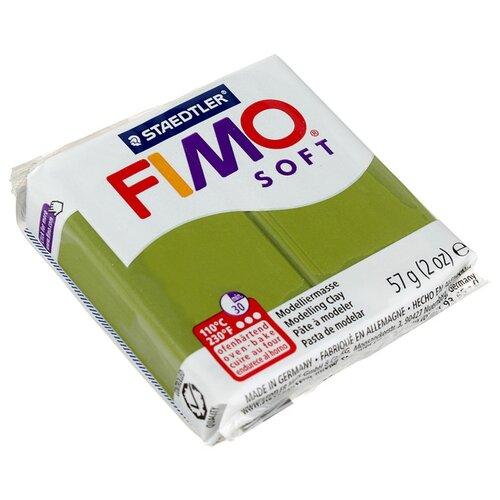 Полимерная глина FIMO Soft запекаемая оливковый (8020-57), 57 г полимерная глина fimo soft запекаемая зеленое яблоко 8020 50 57 г