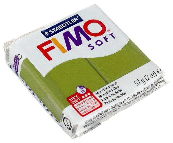 Полимерная глина FIMO Soft запекаемая оливковый (8020-57), 57 г