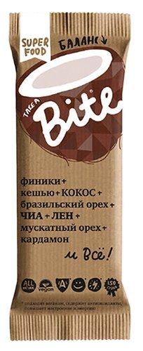 Батончик Take a Bite Фруктово-ореховый Кокос-Бразильский орех, 45г