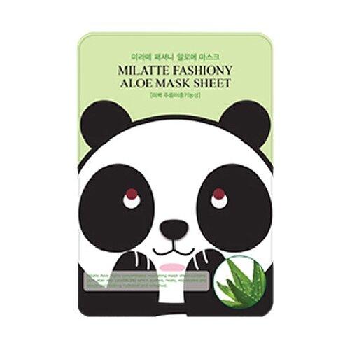 Milatte Маска тканевая с экстрактом алоэ Fashiony Aloe Mask Sheet Renewal, 21 гМаски<br>