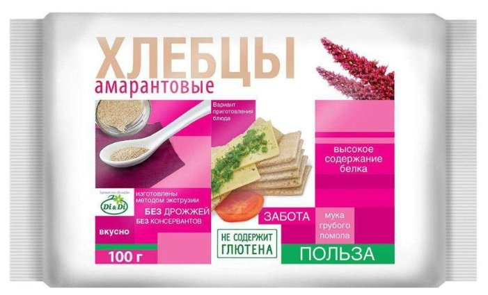 Хлебцы амарантовые DI&DI DI&Di, 100г.