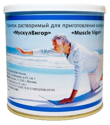 Мускул Вигор ( Muscle Vigor) Напиток растворимый для приготовления коктейлей банка, 350 г