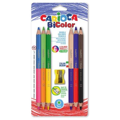 Купить Carioca набор цветных двусторонних карандашей BiColor 12 цветов (42264), Цветные карандаши