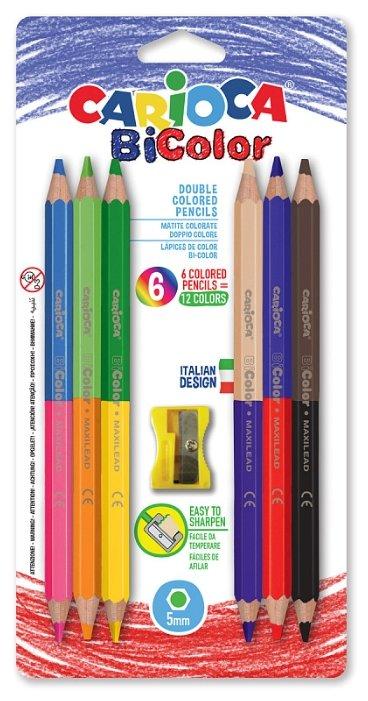 Carioca набор цветных двусторонних карандашей BiColor 12 цветов (42264)
