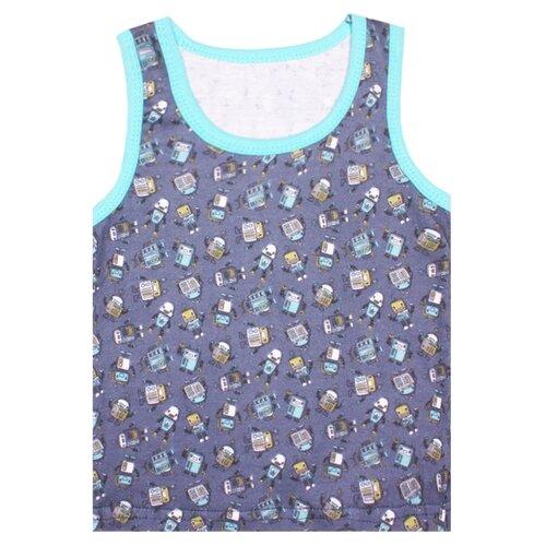Майка KotMarKot размер 104, синий/набивкаБелье и пляжная мода<br>