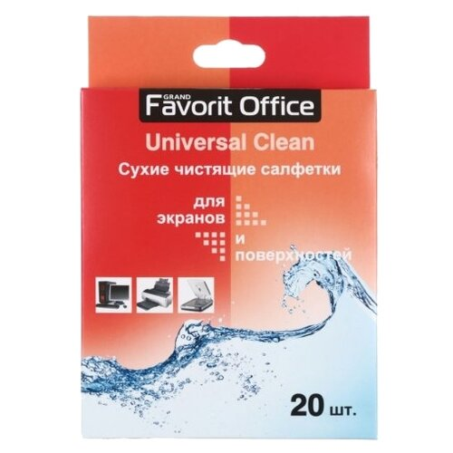 Favorit Office Universal Clean сухие салфетки 20 шт. для экрана, для оргтехники angibabe office and school stationery pencil sharpener pink