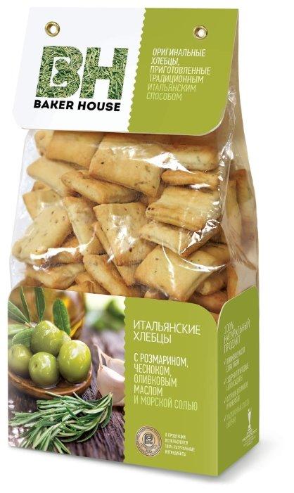 Хлебцы итальянские пшеничные BAKER HOUSE с розмарином, чесноком, оливковым маслом и морской солью