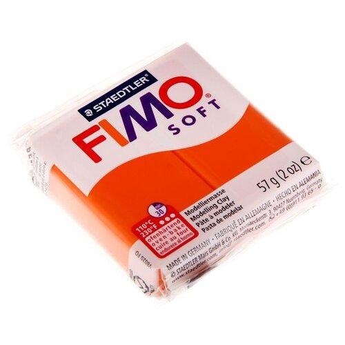 Купить Полимерная глина FIMO Soft запекаемая мандарин (8020-42), 57 г, Глина