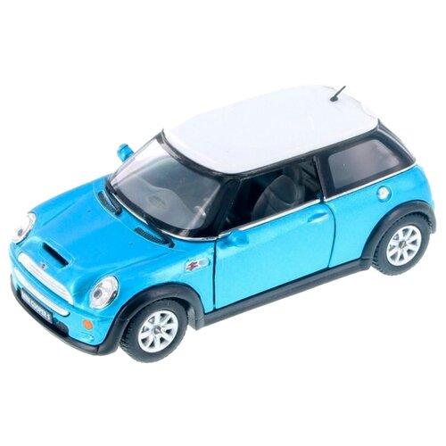 Легковой автомобиль Kinsmart Mini Cooper S (KT5059W) 1:28 13 см голубой