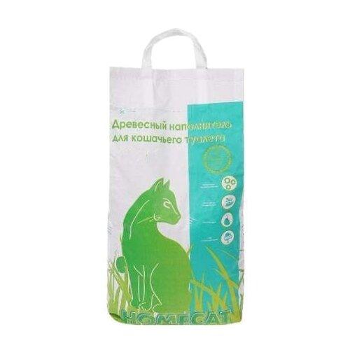 Наполнитель Homecat Древесный мелкие гранулы (20 л/8кг)Наполнители для кошачьих туалетов<br>