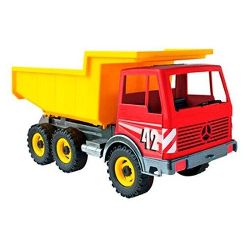 Купить Грузовик ЛЕНА Мерседес (08810) 42 см красный/желтый, Машинки и техника