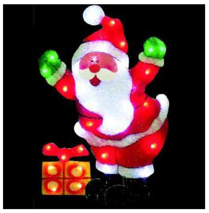 Панно Sh Lights Санта Клаус с подарком,