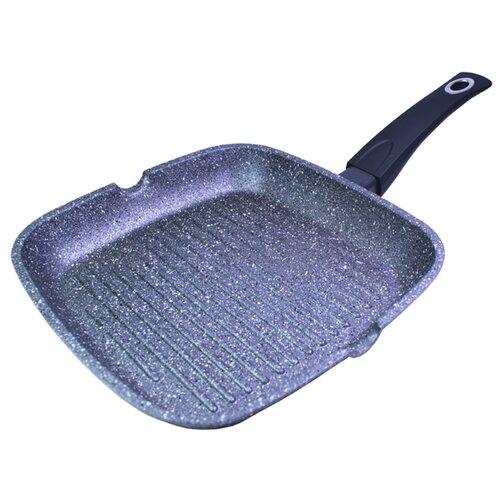 Сковорода-гриль Fissman Grey stone 4978, 28х28 см, серый